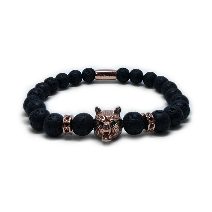 ROSE GOLD WOLF - VOLCANIC STONES