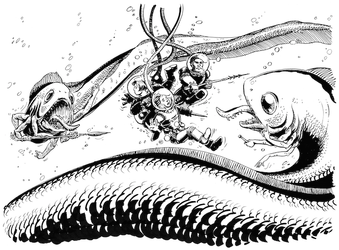 Illustration from Core Rules, by Luka Rejec