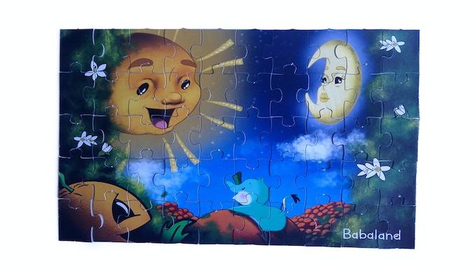 """Puzzle del cuento """"Fangüi y el Sol Glotón"""""""
