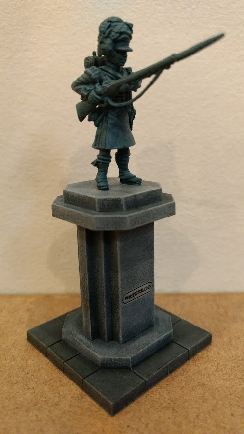 Assembled and painted sample. Figure NOT included in kit.