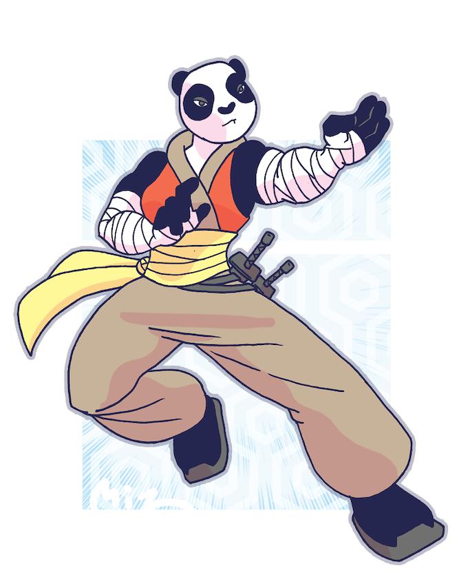 Keiko Panda - Artwork by Mitz
