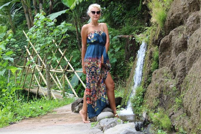 summer dress, 100% silk