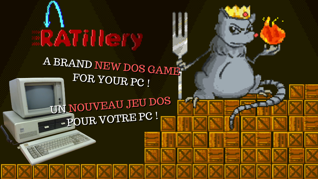 Project image for Ratillery - A New game for PC-DOS Systems