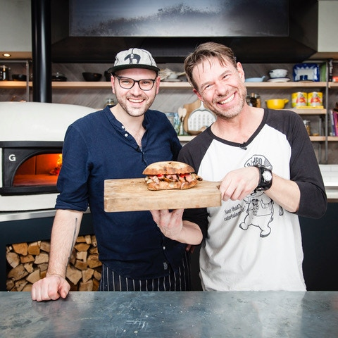 David and Christian at the Gozney Kitchen - Click for video!