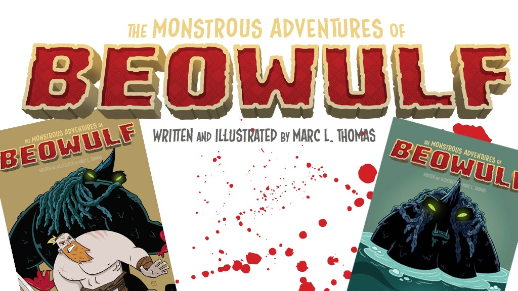 The Monstrous Adventures of Beowulf - Comic Books #1 and #2 project video thumbnail