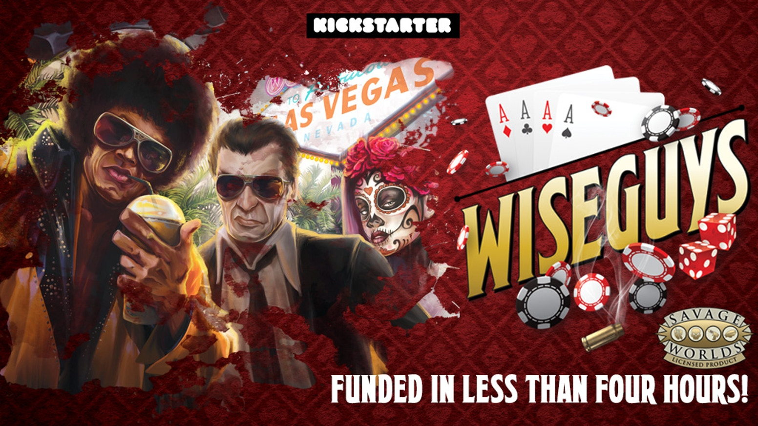 Wiseguys, a Las Vegas Mafia setting and guide to organized crime for the Savage Worlds Roleplaying Game.