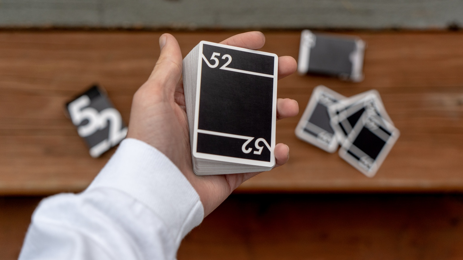 Fifty Two Playing Cards, A Deck of Playing Cards That Admire Simplicity.