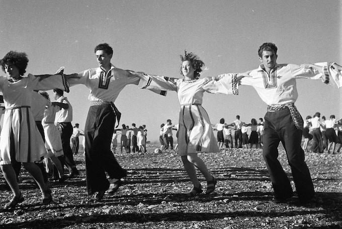 First Israeli Folk Dance Conference 1944 on Kibbutz Daliah