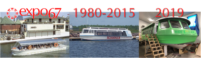 """Expo Service No 5"" at Expo '67,""MV Fundy Isles"" in NB in the 90's, ""Isola Solaretto"" in PEI in 2019!"