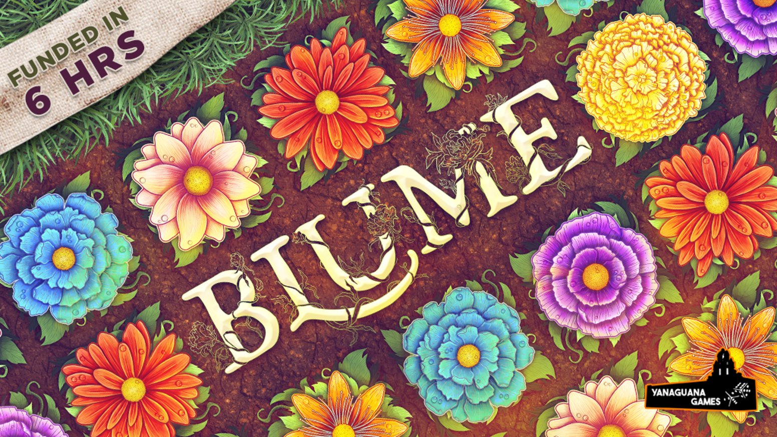 Collect flowers and affect the market by laying tiles and cleverly pruning them!