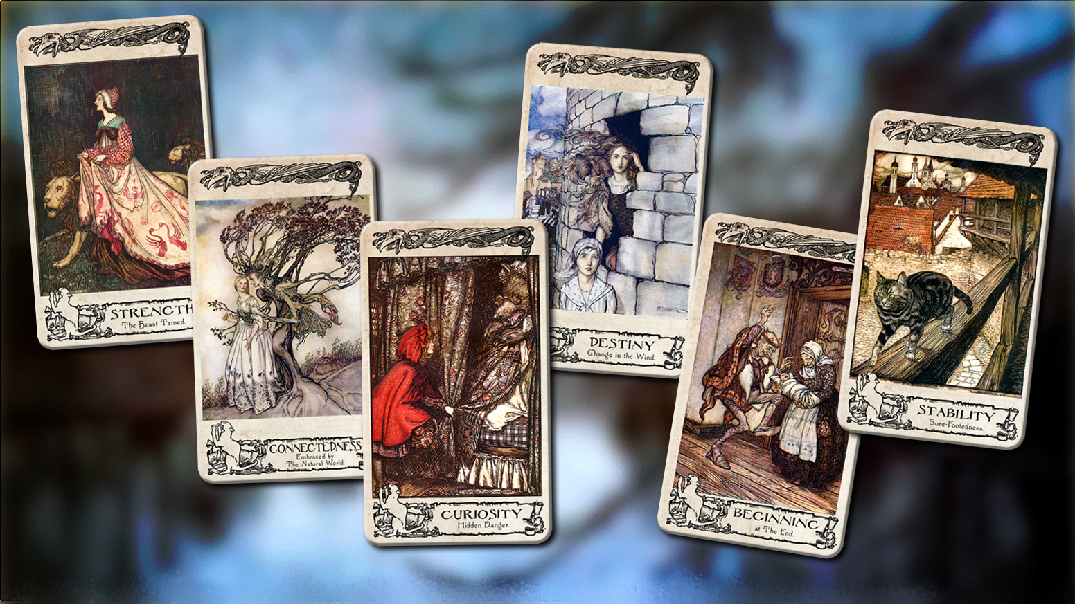 An affordable new edition of the original (and still the best) Rackham Oracle, featuring more than 15 new cards!