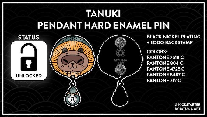 UNLOCKED – Goal 4: Secret Yōkai Tanuki Pendant Enamel Pin (1.350€)