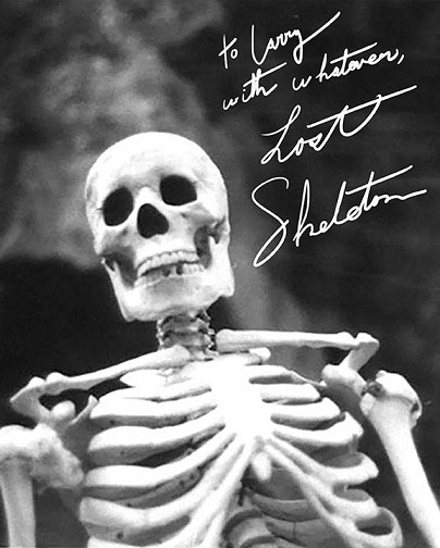 Never before offered signed Skelly 8 X 10's