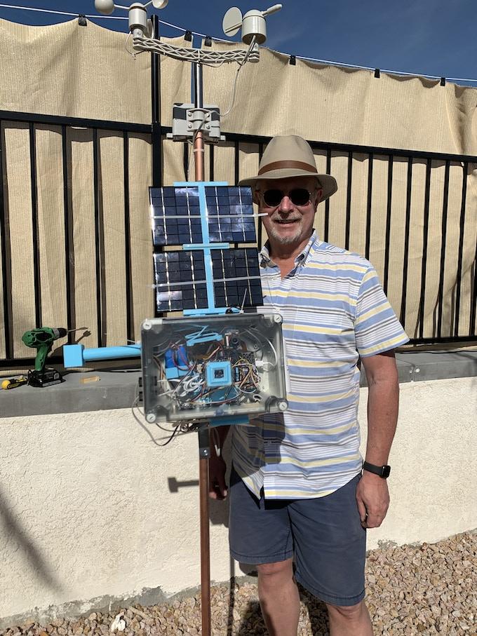 Dr. John with Prototype #1 SkyWeather
