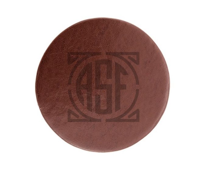 Handmade ASF Leather Coaster | final product will have custom ASF stamp