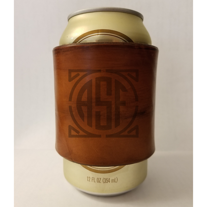 Handmade ASF Leather Coozie | final product will have custom ASF stamp