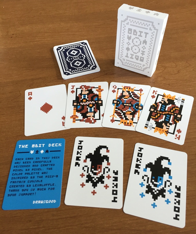 Sample of cards within the deck