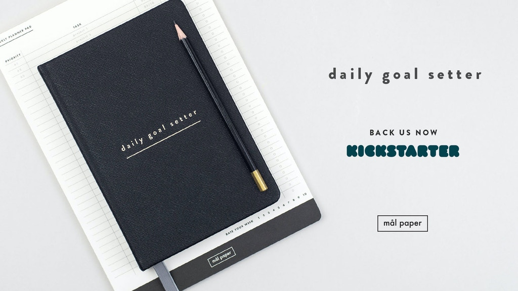 Daily Goal Setter : Productivity and Gratitude Planner