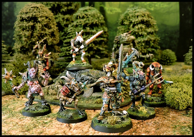 A beastmen warband coming out of the woods!