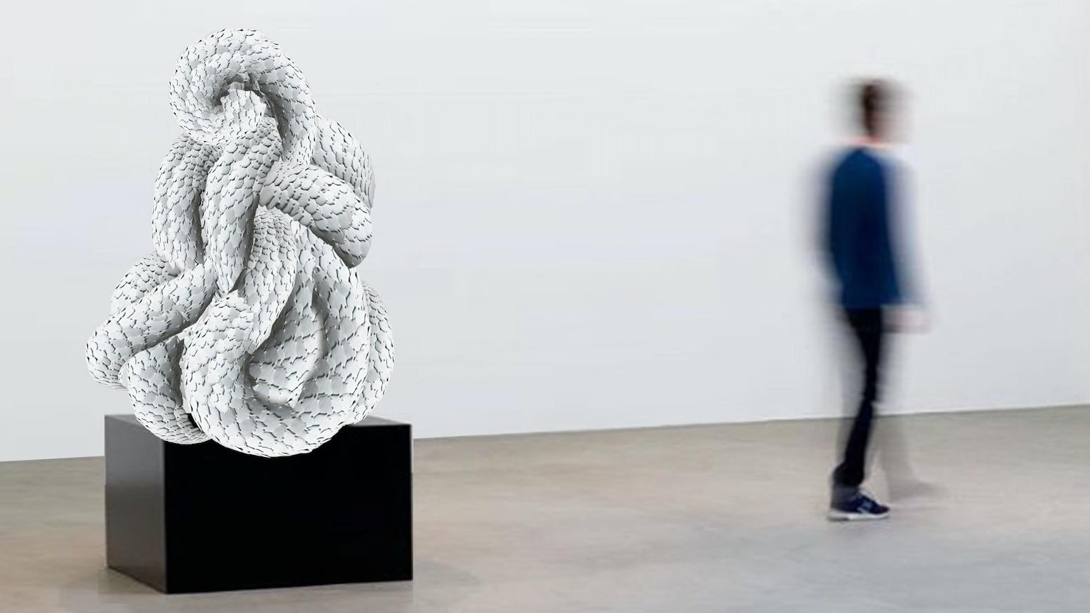 A monumental porcelain sculpture by juliette clovis by