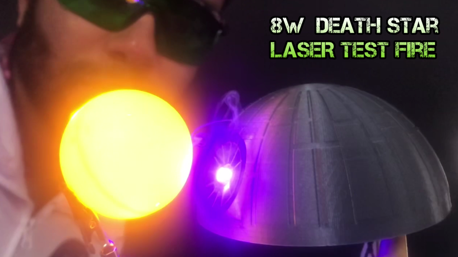 Let's launch a 3D printed miniature Death Star into SPACE with fully functional LASER's to celebrate Star Wars: Episode IX