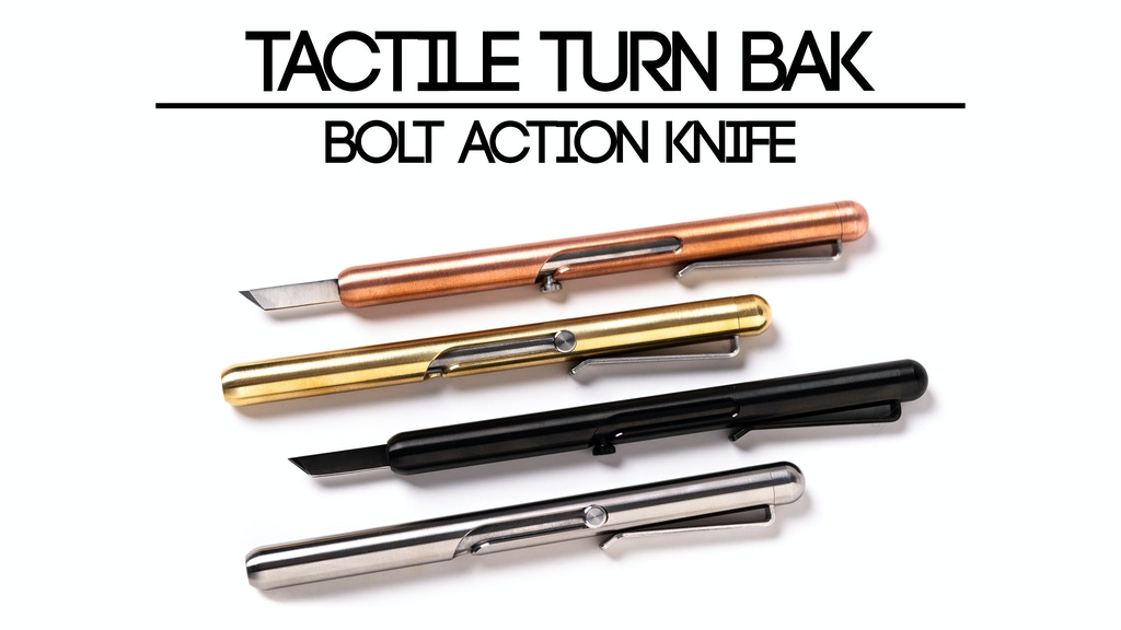 Tactile Turn BAK - Bolt Action Knife project video thumbnail