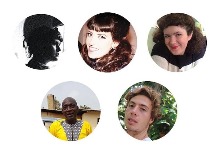 From left to right, Amy Pitt, Eleanor Atkins, Naomi Kuyck Cohen, Malang Camara, Oli Soutar
