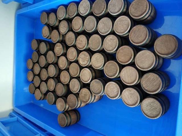 Beer barrels.