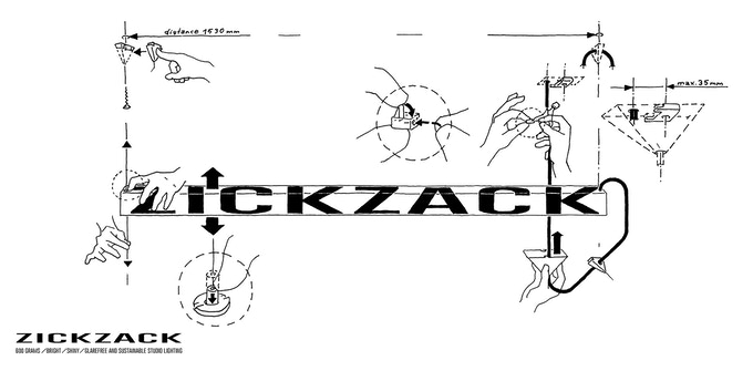 Zickzack studio lighting - installation instruction