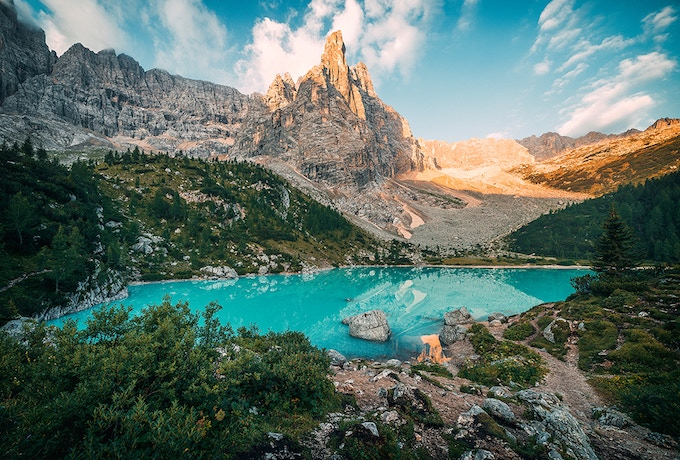 The Sorapis Lake with its wonderful turquoise water