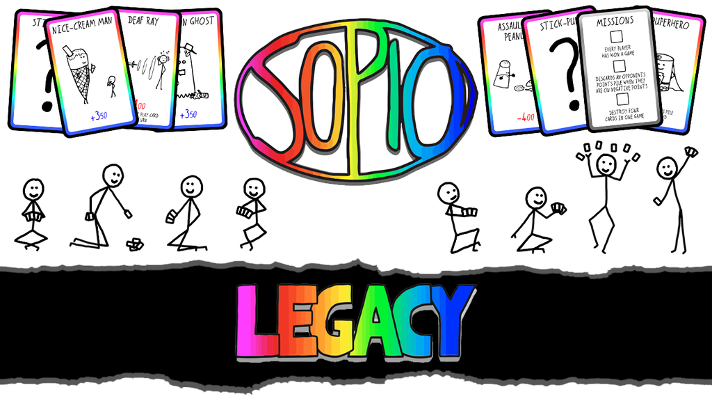 Sopio Legacy: a pun-filled quick-fire custom card game project video thumbnail