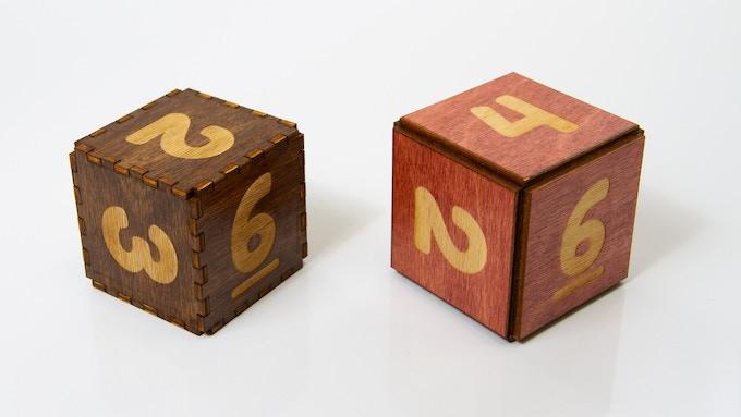 D4 Original JUMBO Dice on left. D4 dLUX JUMBO Dice on right.
