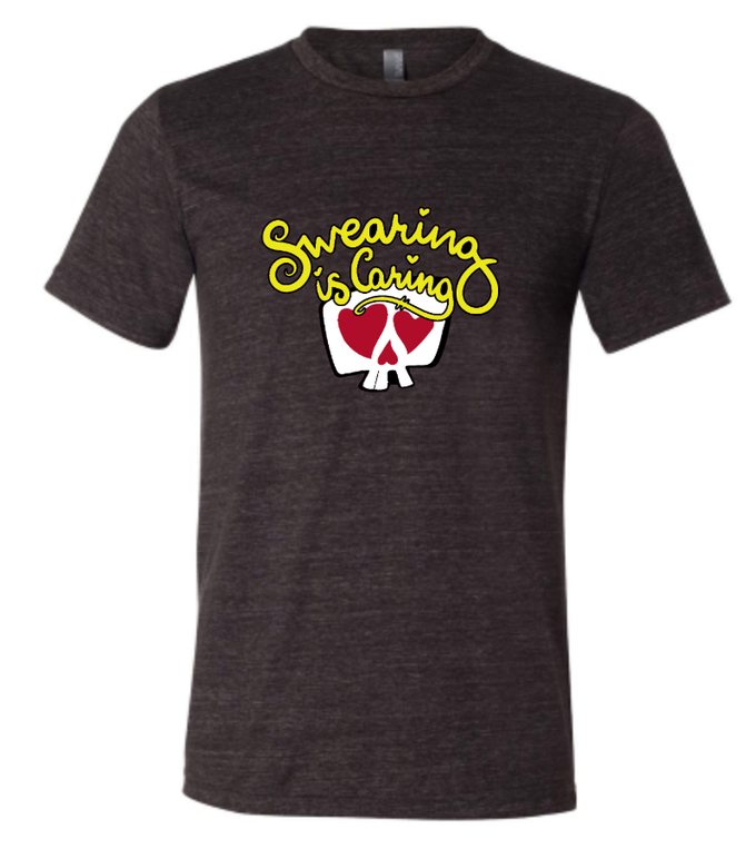 Shirt will be dark heather gray. Design size and shirt appearance may vary slightly from picture.