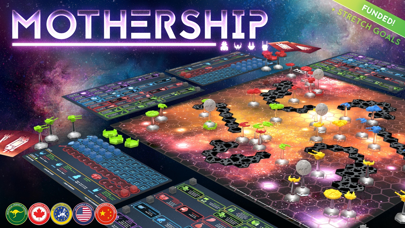 Command a fleet, explore planets and rule the galaxy in this light sci-fi strategy game for 2 - 6 players.