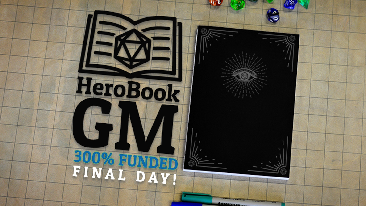 HeroBook GM is the ultimate toolkit for 5E game masters, with a reusable party tracker and tons of resources in a deluxe notebook.