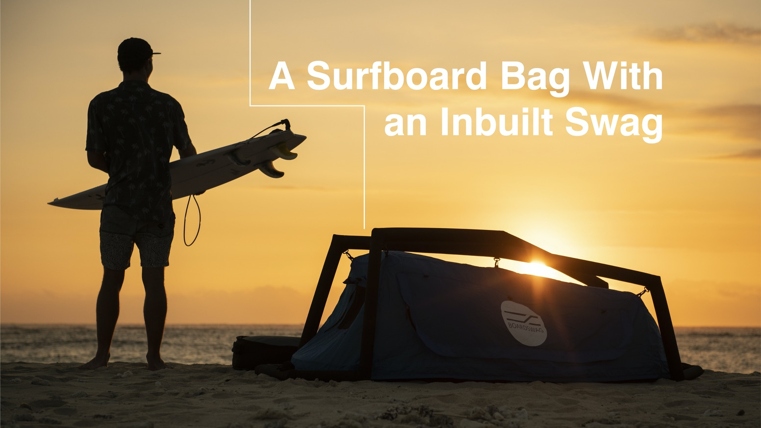 The ultimate surf travel bag, Boardswag holds 3 boards and sleeps 1 human. A premium boardbag with an inbuilt inflatable swag.