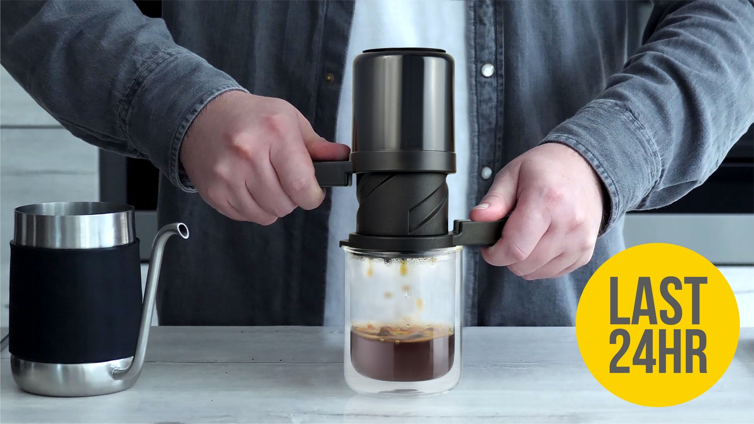 Explore and enjoy irresistibly smooth, clean coffee in as little as 30 seconds with a 'twist' and our patent-pending brewing technique