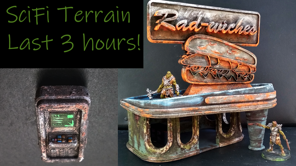 Sci-fi/PostApocalyptic 3d Terrain playsets for wargames by