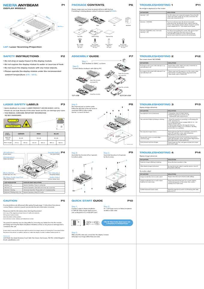 AnyBeam Developer Kit User Guide