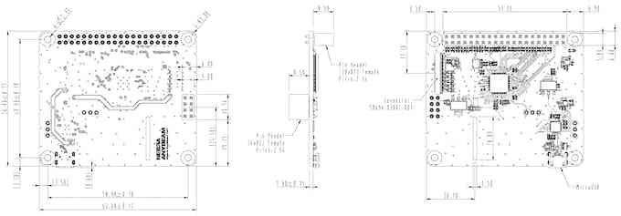 AnyBeam HAT Main Board Design Drawing