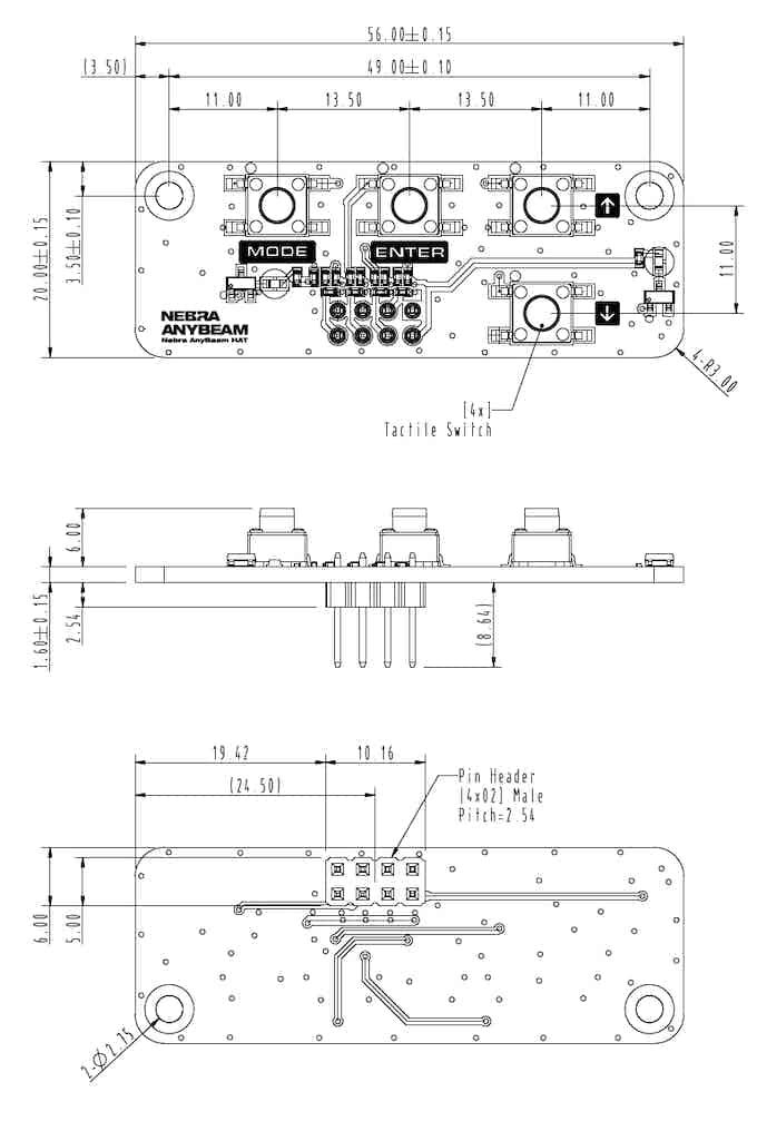AnyBeam HAT Control Board Design Drawing