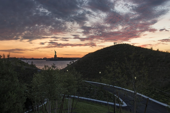 Governors Island at sunset