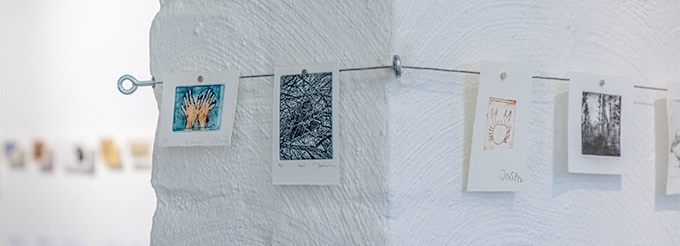 prints by Kate Baillies, Heather Urness, Jasper and Melodie Sanderson (left to right)