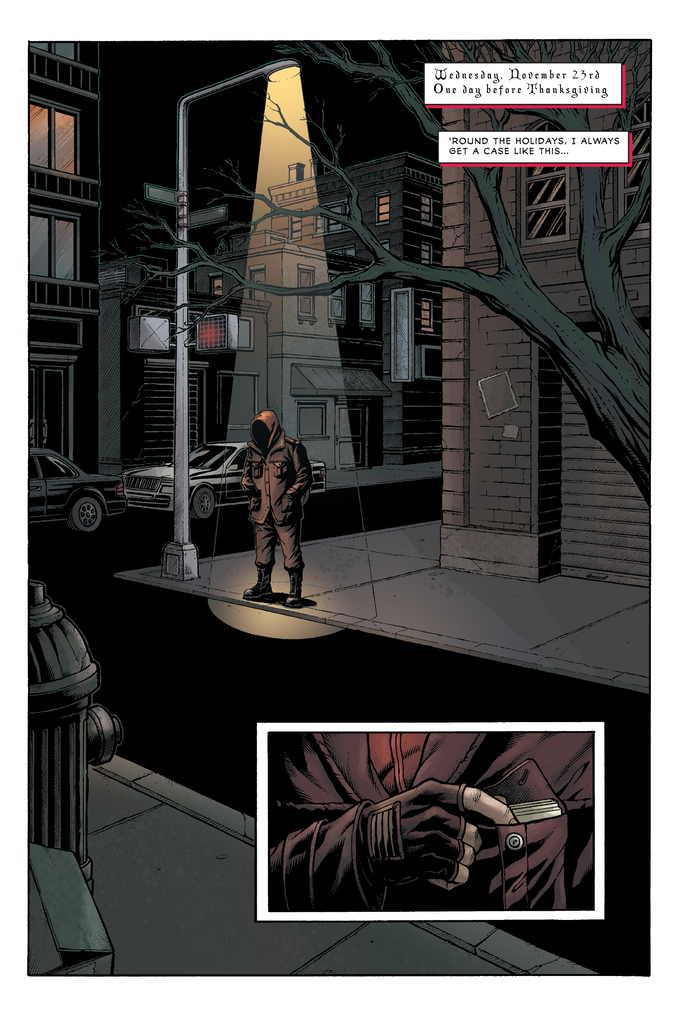 Issue 1, Page 1—pencils and inks by DaFu Yu, colors by Lesley Atlansky, written and letters by George O'Connor