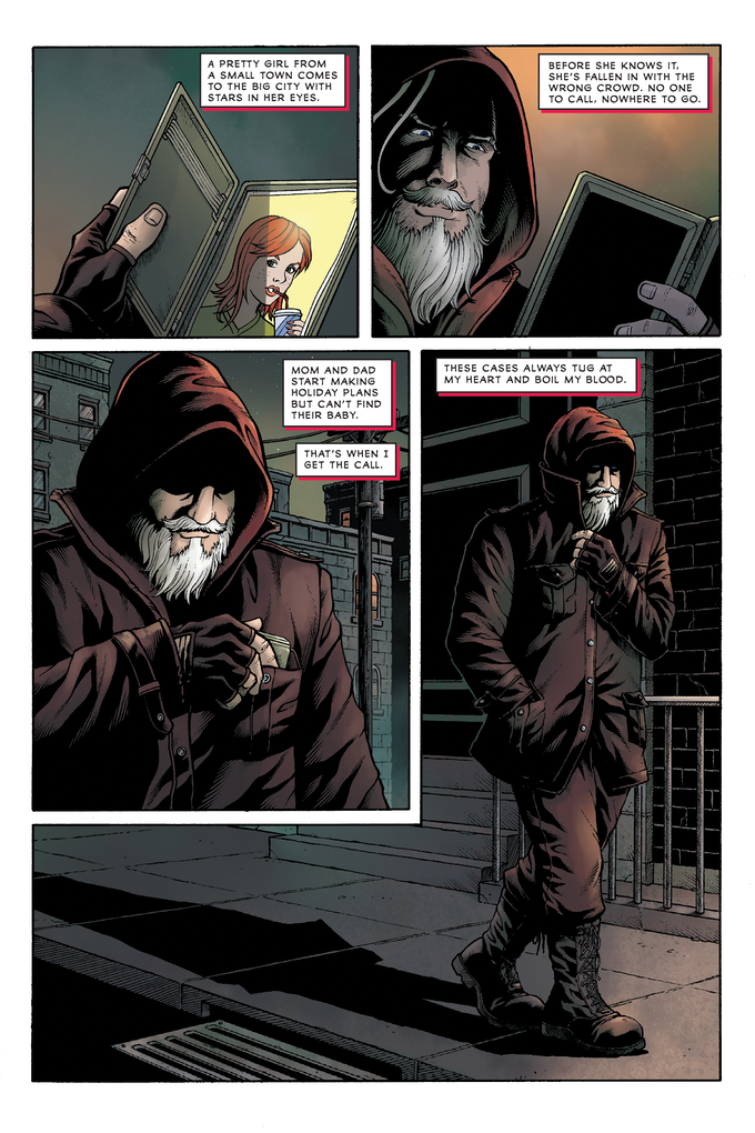 Issue 1, Page 2—pencils and inks by DaFu Yu, colors by Lesley Atlansky, written and letters by George O'Connor
