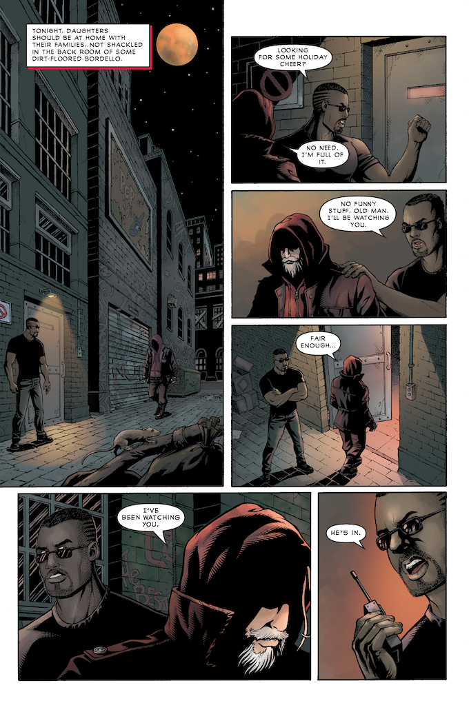 Issue 1, Page 3—pencils and inks by DaFu Yu, colors by Lesley Atlansky, written and letters by George O'Connor