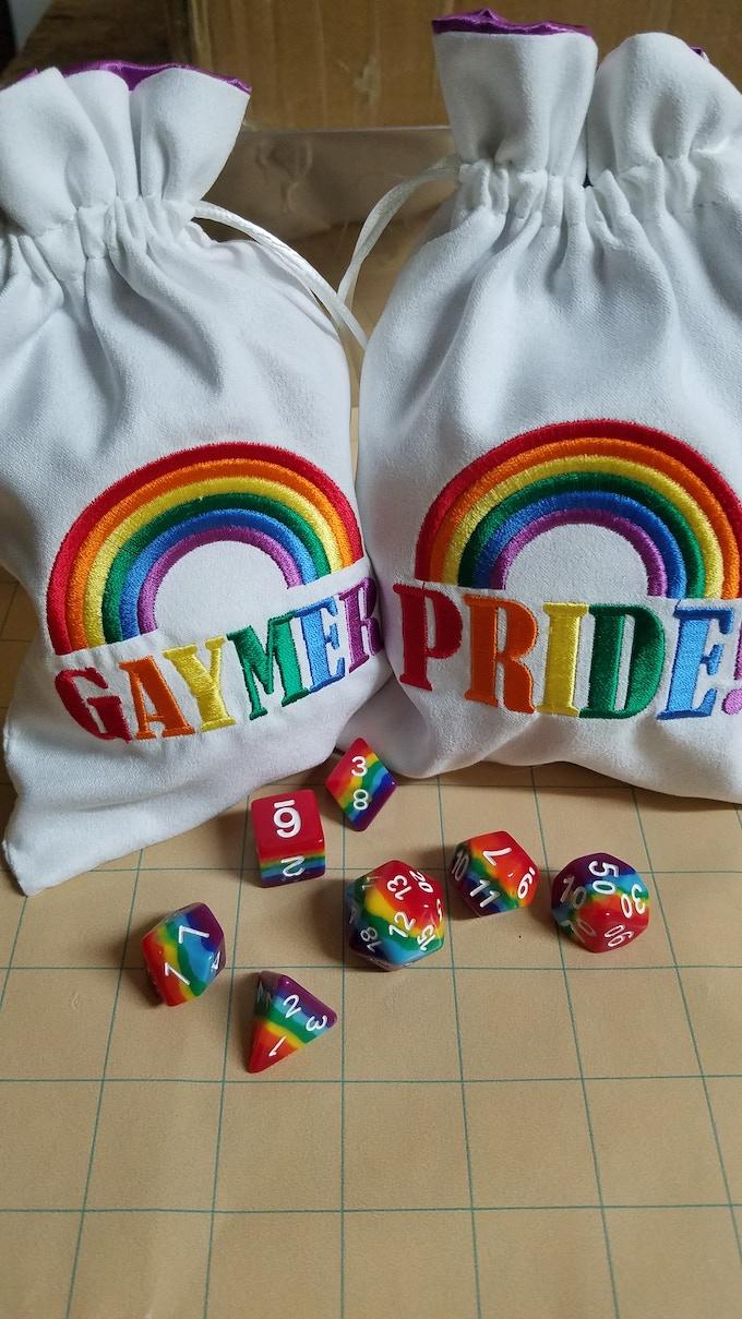 Pride! Dice Bag and Gaymer Dice Bag