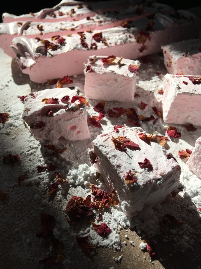 Honeyed Marshmallows with Rosewater and Saffron