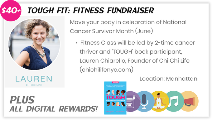 "Pledge $40 or more and select the ""TOUGH FIT: Fitness Fundraiser"" to receive the items above."