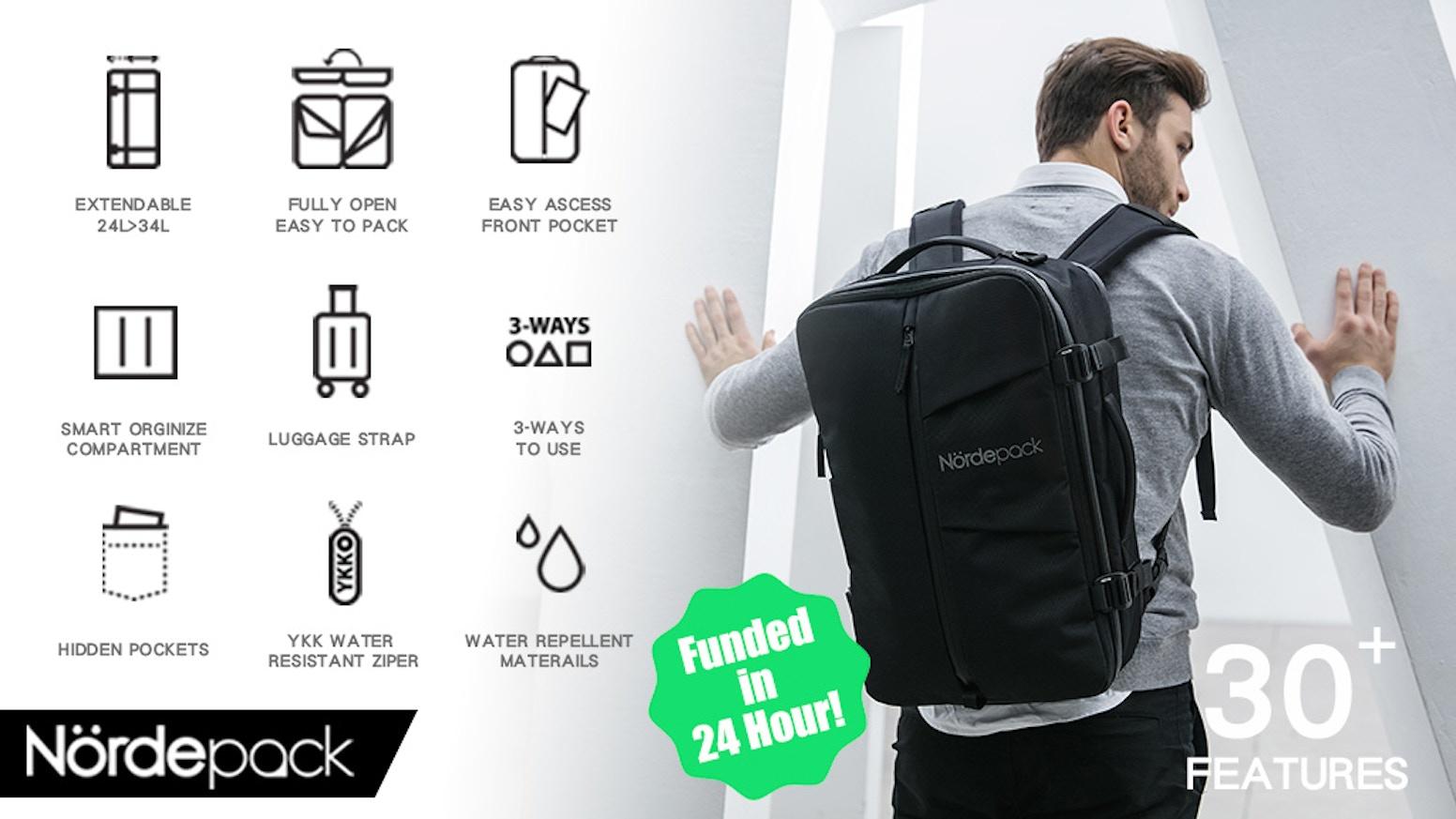 925699085c91 Smart and Versatile Travel + Work Multi-functional Bag by Nördepack ...